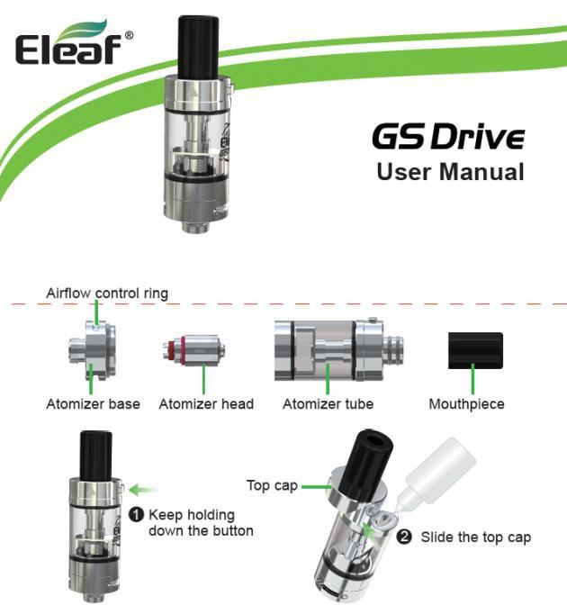 Инструкция Eleaf iStick Amnis+GS Drive