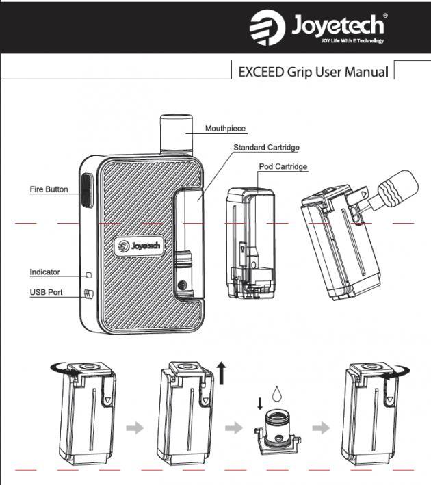 Инструкция для Joyetech Exceed Grip