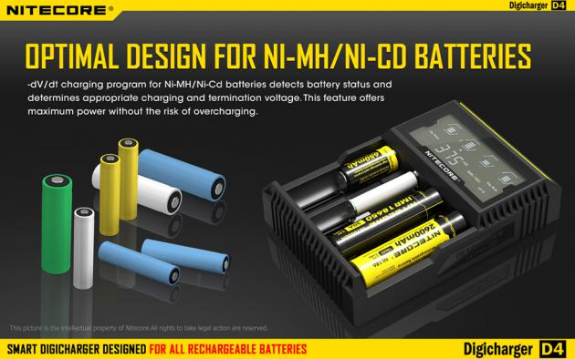Зарядное устройство NITECORE D4 LCD